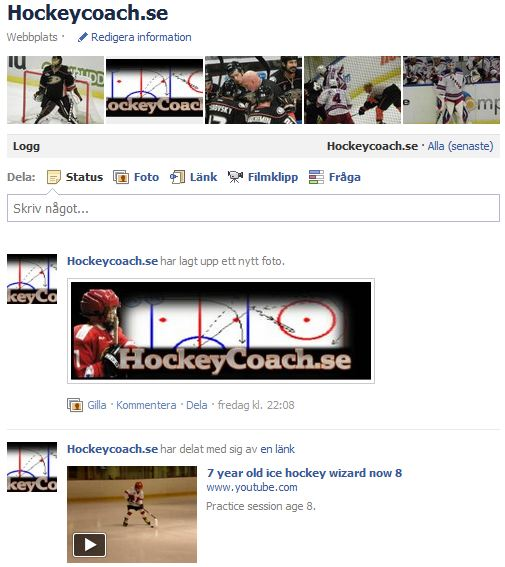 Hockey coaching facebook Hockeycoach.se